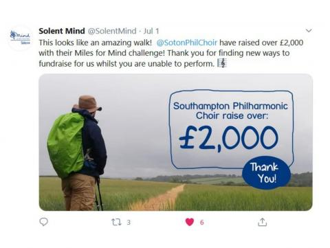 Image of Solent Mind's tweet