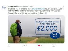 Image of Solent Mind's tweet